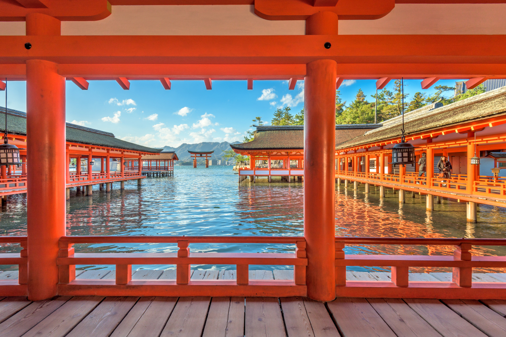 Santuario di Itsukushima, sull'isola di Miyajima