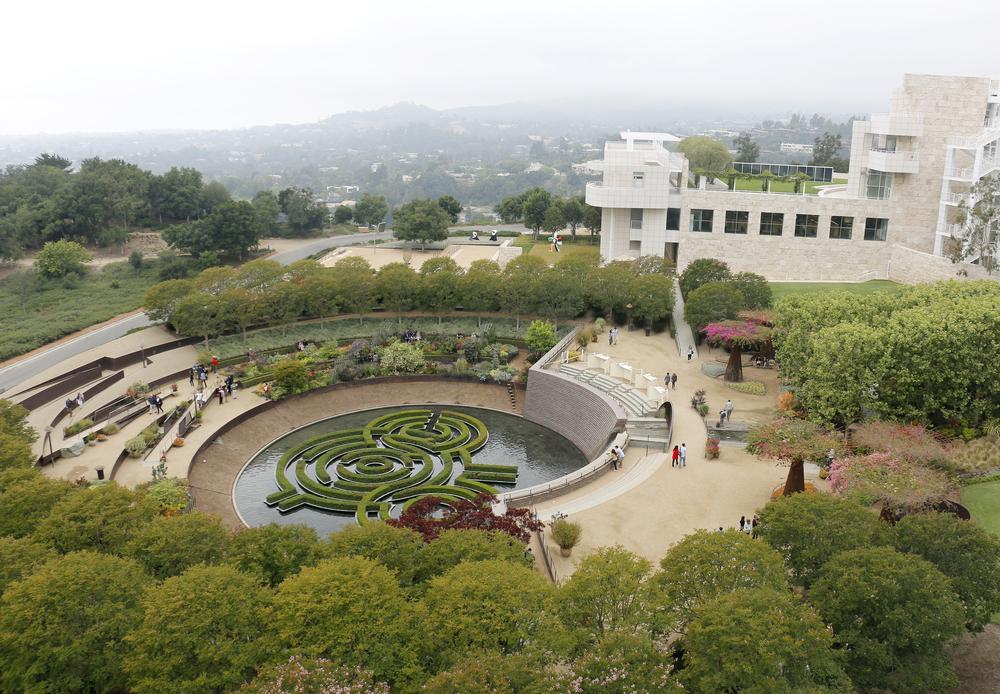 Vista sul Getty Museum