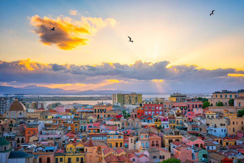 Tramonto su Cagliari
