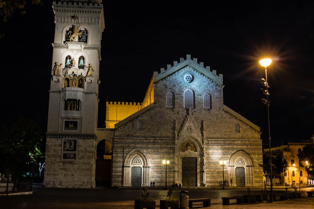 Il Duomo di Messina di notte