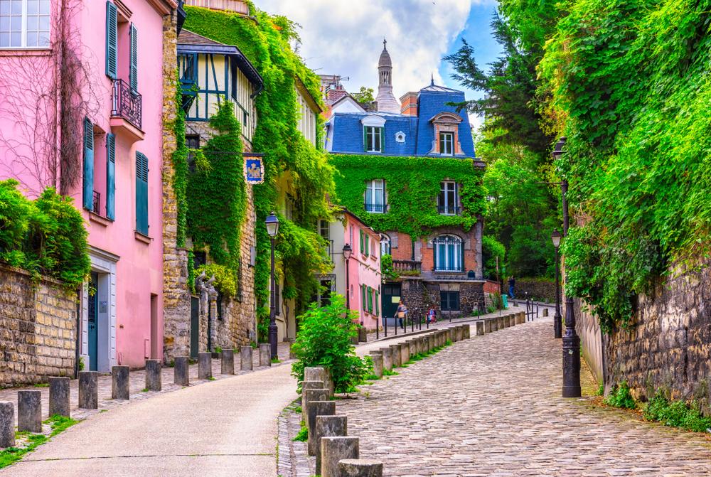 Una strada di Montmartre