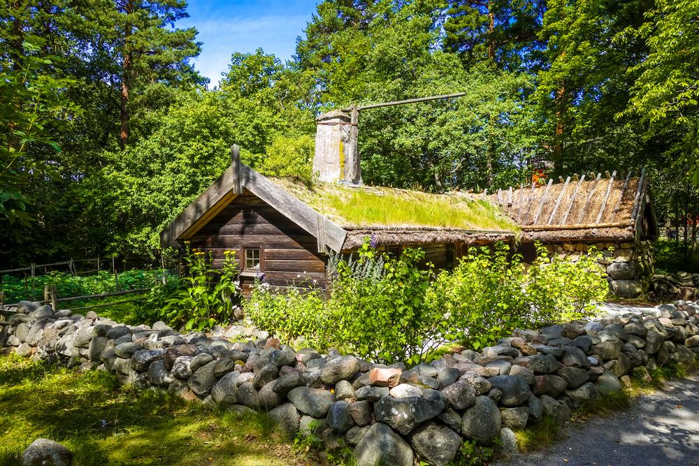 Un'abitazione del Museo Skansen