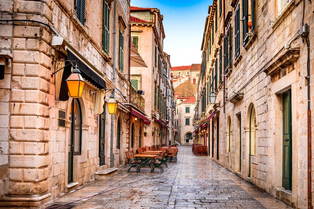 Una stradina di Dubrovnik